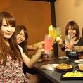 全席個室で話題の創作料理店☆コスパ抜群で女子会使いにも◎コースは3時間飲み放題も有り☆