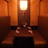 4~6名の暖簾で閉めるテーブル個室(奥)