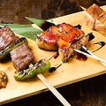 料理メニュー写真特選串焼き3種盛り合わせ