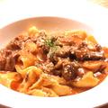 料理メニュー写真◎柔らか牛頬肉とキノコのラグーソース 生パスタ パッパルデッラ◎