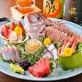 当店の鮮魚は新鮮なものにこだわり産地直送など本当に美味しいものをご提供しております。旬の食材も各種ご用意しておりますので是非どうぞ。