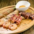 料理メニュー写真新鮮野菜お肉とりどりの串♪