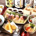チカイチの日本酒利き酒飲み放題90分付き宴会コースは全8品 4500円から。コース内容は毎月変わるので一度ご利用いただいたことのあるお客様でもまた何度でもお楽しみ頂けます♪コースは2名様から最大50名様までご利用いただけます。