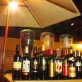 ◆ワインの単品飲み放題◆目を引く大きなサーバーからは3種類のサングリアが★