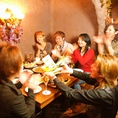 自慢の洞窟個室でみんなでわいわいサプライズパーティーはいかがですか?人気のお席なのでご予約をオススメいたします!