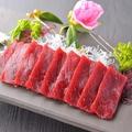 料理メニュー写真クジラの赤身刺/クジラの竜田揚
