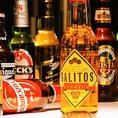 【サリトス】テキーラビール。ドイツ産ビールにそれぞれ、テキーラ/レモン/ライムのフレーバーを加えたアルコール飲料