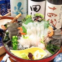 北海道直送の新鮮な魚介