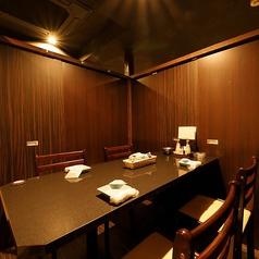 2名様~完全個室へご案内。人数に合わせた個室席をご用意しております。