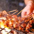 当店自慢の朝挽き鶏を使った料理!新鮮だからこその「鳥刺」、備長炭を使った「焼き鳥・串焼き」など絶品料理が多数!