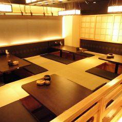 お座敷の掘りごたつ席の広間は、4名様~ご用意。最大35名様までご利用可能となっております。