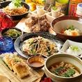 もずく酢、島らっきょう、沖縄豆腐など、沖縄名物がズラリ!オリオンビールや泡盛と一緒に沖縄をご堪能ください!