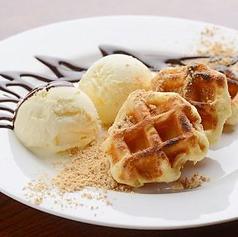 料理メニュー写真●ワッフルアイス~4種類~