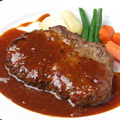 料理メニュー写真牛挽肉100%手ごねハンバーグステーキ
