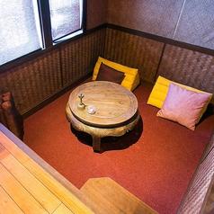 個室の「パチャール」です。お2人だけの特別な空間!デートや女性同士でのご来店におススメ!