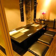 プライベート感たっぷりの6名個室。人気の為お早目のご予約を。