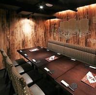 幅広いシーンで使える個室多数。