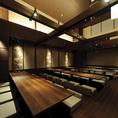 名古屋駅新幹線口より西へ徒歩2分の寿司屋【十六夜】の貸しきり掘りごたつ個室。30名様以上で貸しきりご予約承っております。最大40名様までOK。駅から近いこそお時間を気にせず、じっくりお愉しみください。