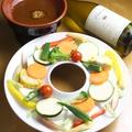 料理メニュー写真農園野菜のバーニャカウダ 赤みそ