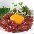 料理メニュー写真三崎マグロのユッケ風