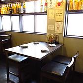 1階のテーブル席は4名様まで可能な席をご用意。仕事帰りの飲み会にどうぞ!