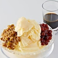 料理メニュー写真もちもち黒タピオカと小豆の華氷