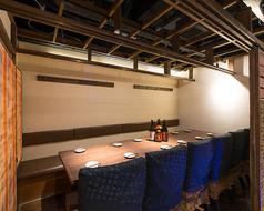 【完全個室】仕切りの壁を外してレイアウトは自由自在。2名様個室~60名様までの貸切宴会まで、大小ご宴会はお任せください!