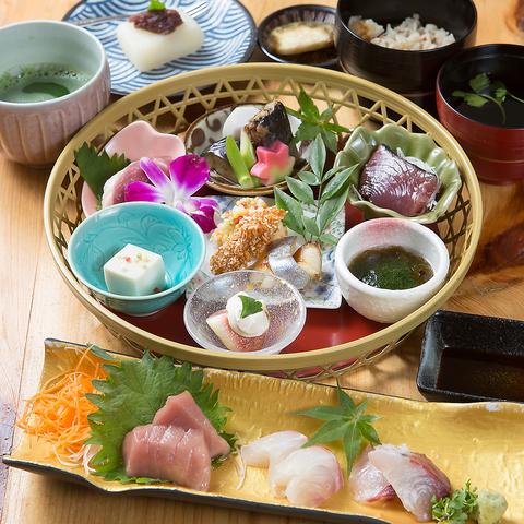 ランチ≫日替わりの河内鴨料理の入った◆花かご弁当◆ 1500円(税込)