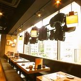札幌の街中を一望できる掘りごたつ席!ゆったりとした空間をお楽しみください♪