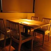 こちらは2名様から最大4名様迄ご利用いただける完全個室です。接待やご宴会などにご利用ください。