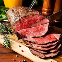 厳選した素材をシェフが丁寧に調理した絶品お肉料理♪
