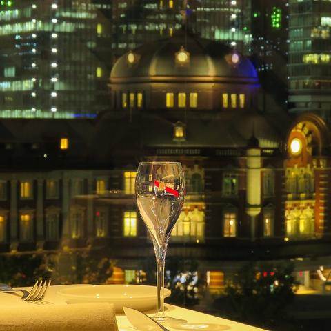 ■新丸ビル5F■東京駅を目の前にフレンチのコース料理をお楽しみください。
