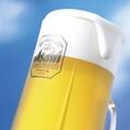 当店の自慢の一つは、ガンガンに冷えたビール!温かい店内で、美味しいしゃぶしゃぶと、ガンガンに冷えたビールで乾杯!!