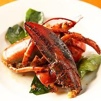 北新地で新鮮オマール海老料理に舌鼓を打つ