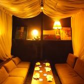 アジアンリゾートをイメージした完全ソファー個室。カーテン付の個室で人気です。ご予約はお早めに!宴会、女子会、コンパなどにどうぞ♪【梅田 茶屋町 個室 ソファー 宴会 合コン コンパ 女子会 誕生日 記念日  パーティー 梅酒】