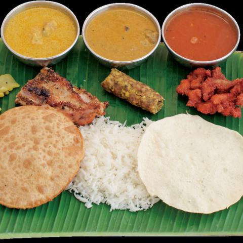 南インドの人気店のシェフによる本格インド料理。他では珍しい料理も沢山