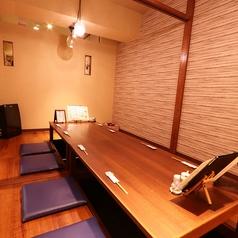 各種宴会などにも最適な掘りごたつの個室をご用意しております!※5名席を繋げております。