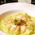 料理メニュー写真ぷりぷり海老のラビオリ ハーブバターソース