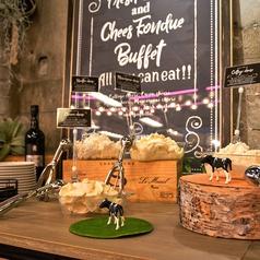 看板メニューは『4種のフレッシュチーズ食べ放題』♪