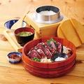 料理メニュー写真わら焼き鰹の塩たたき定食 大(9切れ)