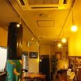 店内の明かりは、優しい灯りが灯ります。
