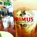 ベルギーの三大ピルスナーの一つ。「プリムス」ほのかな麦の甘さがあってすごく飲みやすいプレミアムビールです。コチラも一杯目にオススメです。