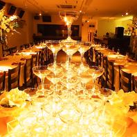 結婚式二次会、女子会、大型宴会に個室パーティールーム
