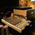 ≪音響機器≫CD再生やPC接続はもちろん、バンド演奏にも対応できる本格的な音響機器を取り揃えております。