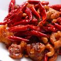 料理メニュー写真鶏肉と唐辛子のピリ辛炒め ~辣子鶏丁(ラーヅーチーティン)~