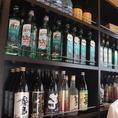 とりとり亭を愛する常連さんのキープボトルが並んでいます!