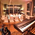 ステージ、楽器、機材等完備しています♪貸切ご利用の場合は無料で提供いたします。