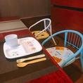 お子様連れのお客様も歓迎いたします。お座敷席はもちろん、お子様椅子・お子様用食器もご用意しておりますので安心してご来店ください。