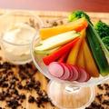 料理メニュー写真農園スティックサラダ ~自家製仙台味噌のディップを添えて~