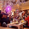【ご利用頂いたお客様の声3】念願のajito!めっちゃ内装可愛かった!次の日誕生日やった子にサプライズ大成功!くす玉の仕掛け最高でした♪次のお祝いもここでお願いします♪